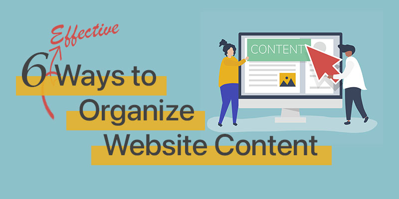 ways to organize website content